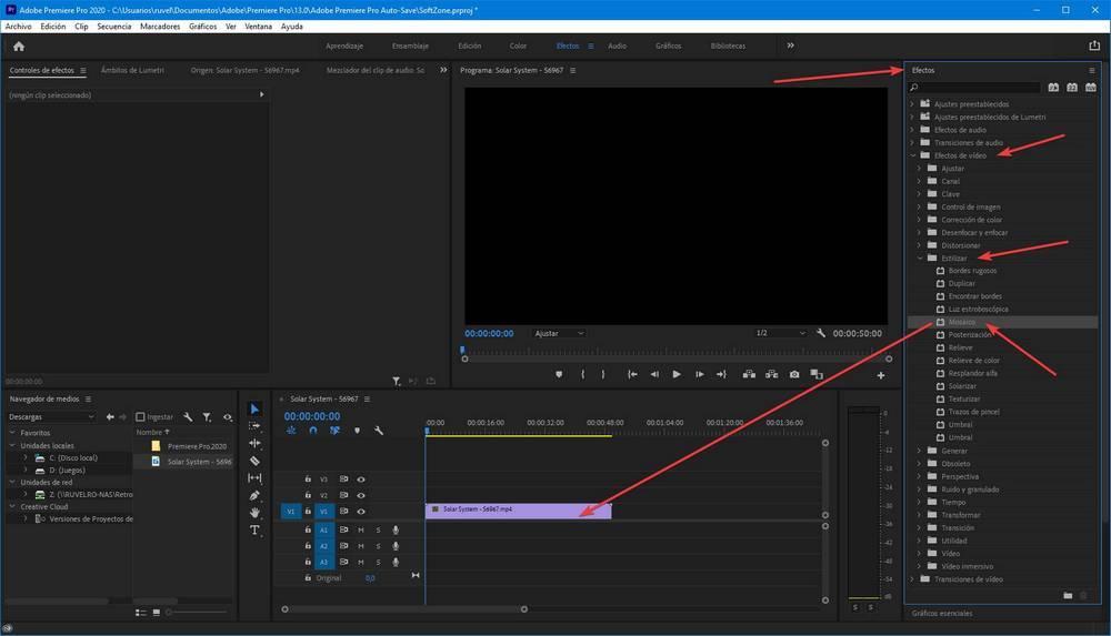 Adobe Premiere Pro - Censurar Pixelar caras objetos 4