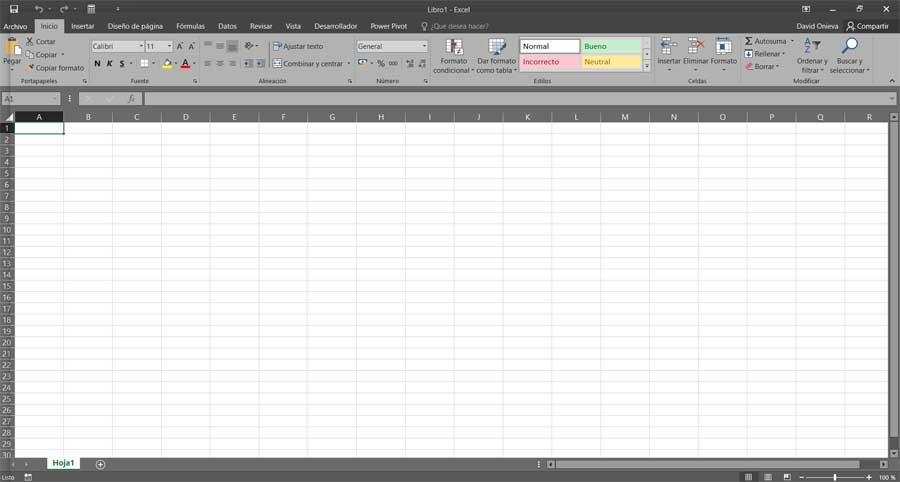 Interfaz Excel