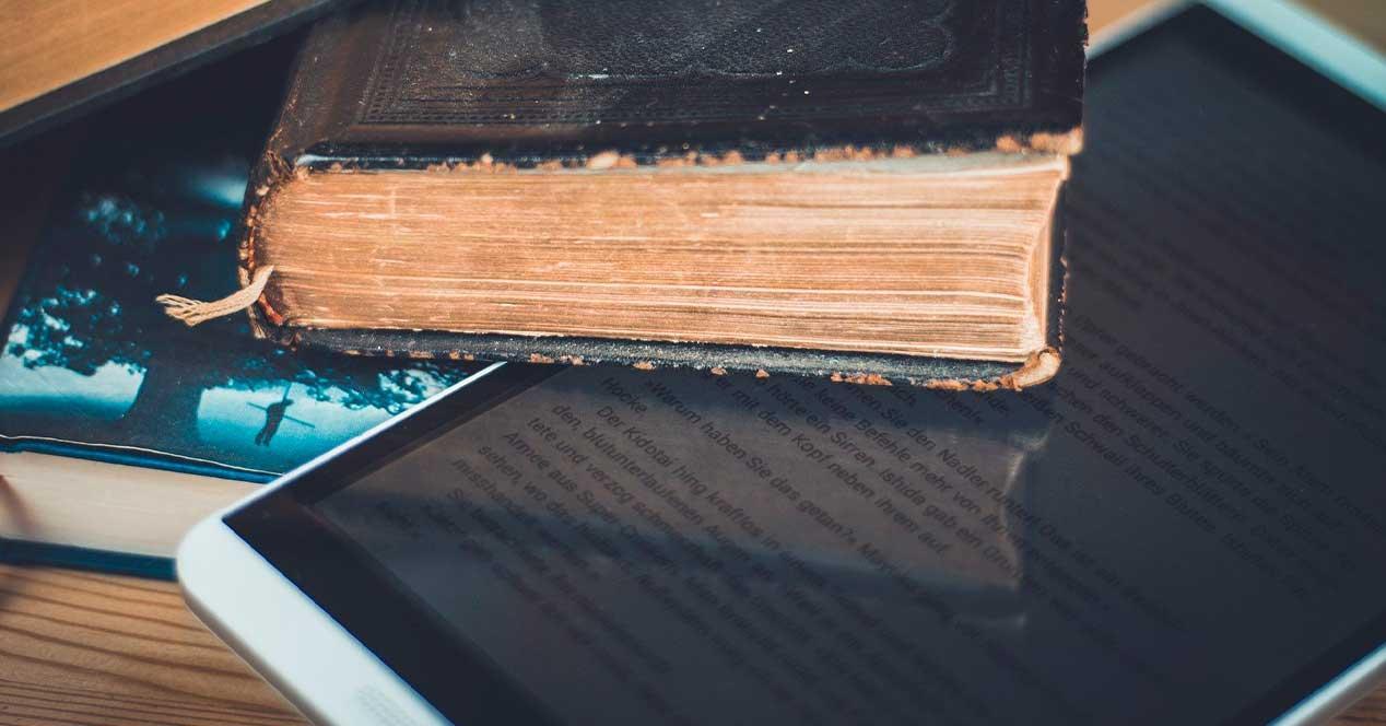 Libro viejo y ebook