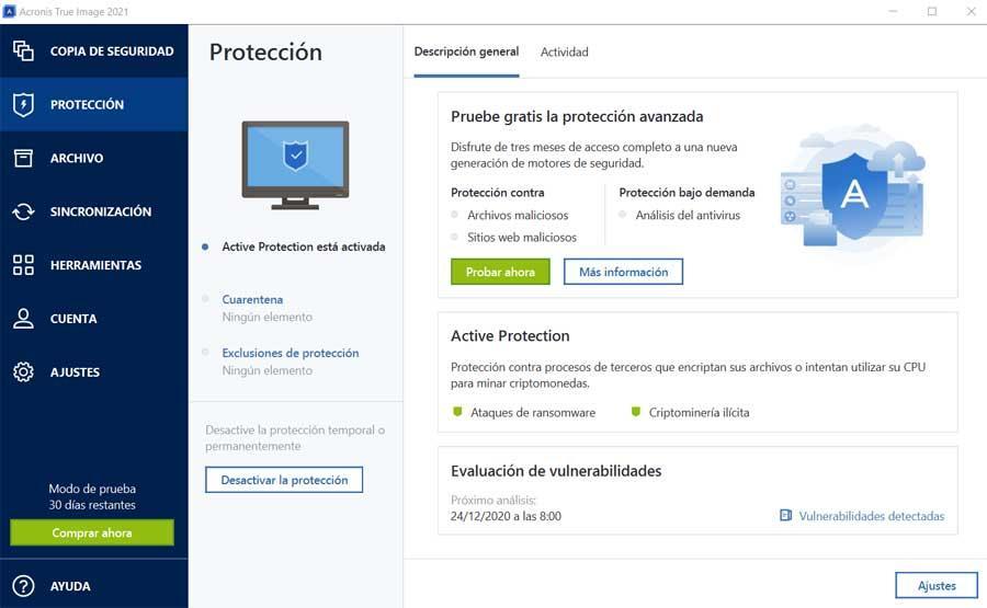 protección acronis