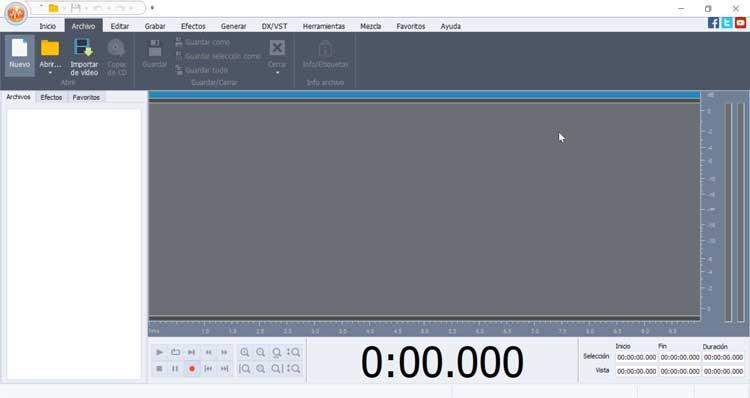 AVS Audio Editor interfaz