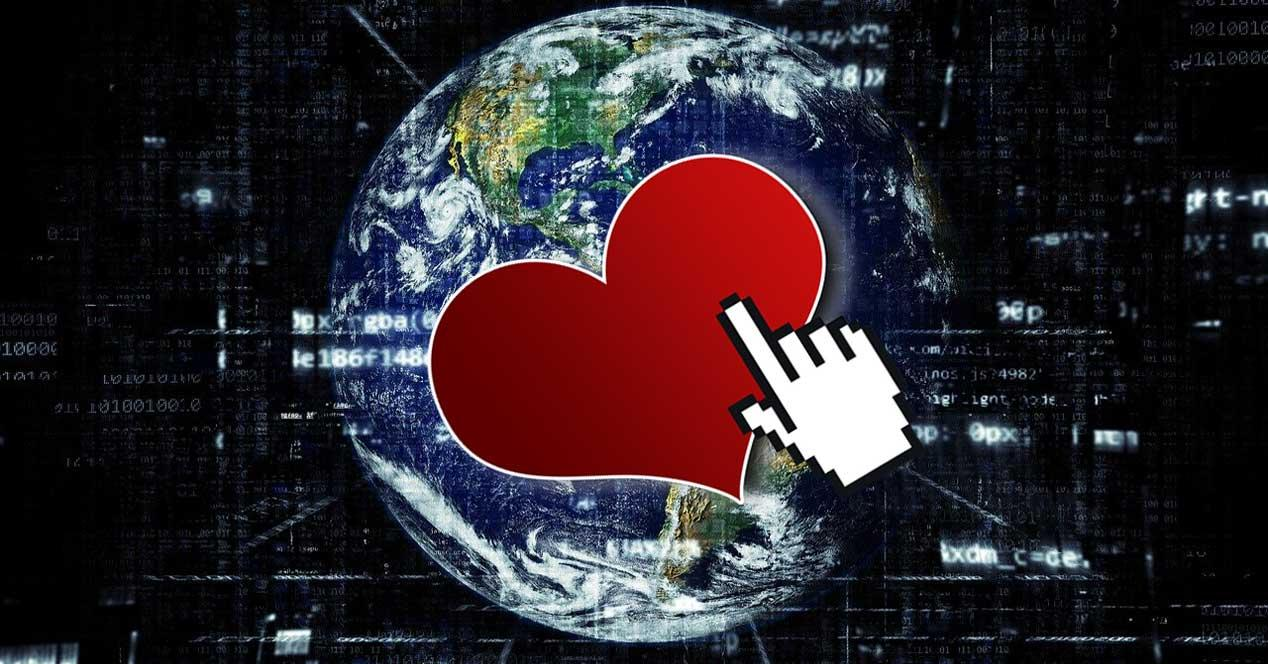 Cursor corazon navegar