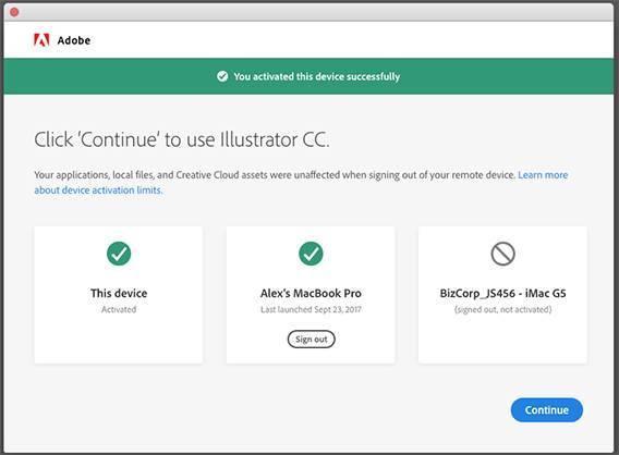 Adobe Creative Cloud - Activar el PC