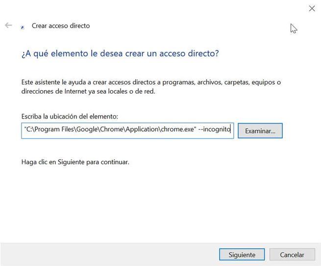 Chrome acceso directo modo incógnito