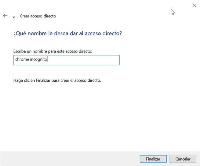 Chrome nombre acceso directo