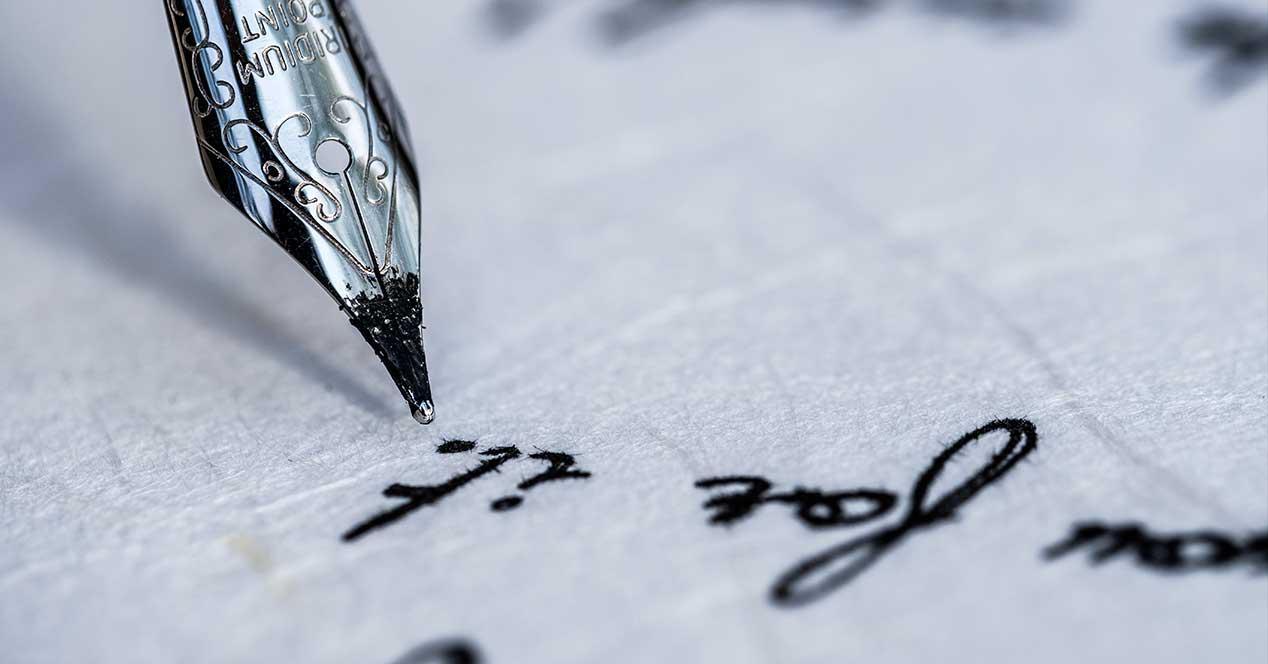 Escribir con pluma