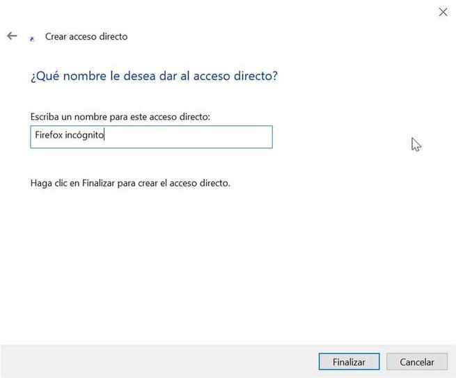 Firefox nombre acceso directo