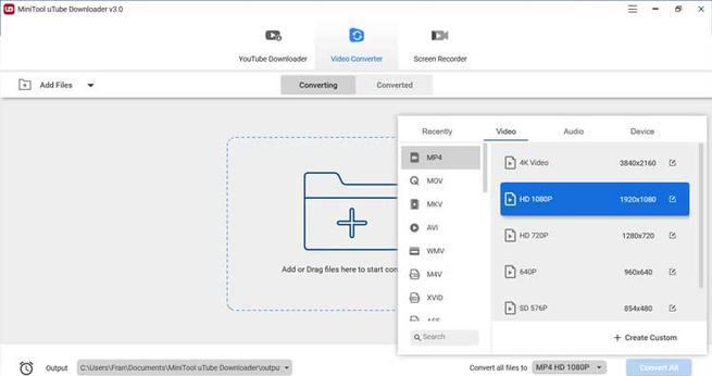 MiniTool uTube Downloader calidad de la conversión