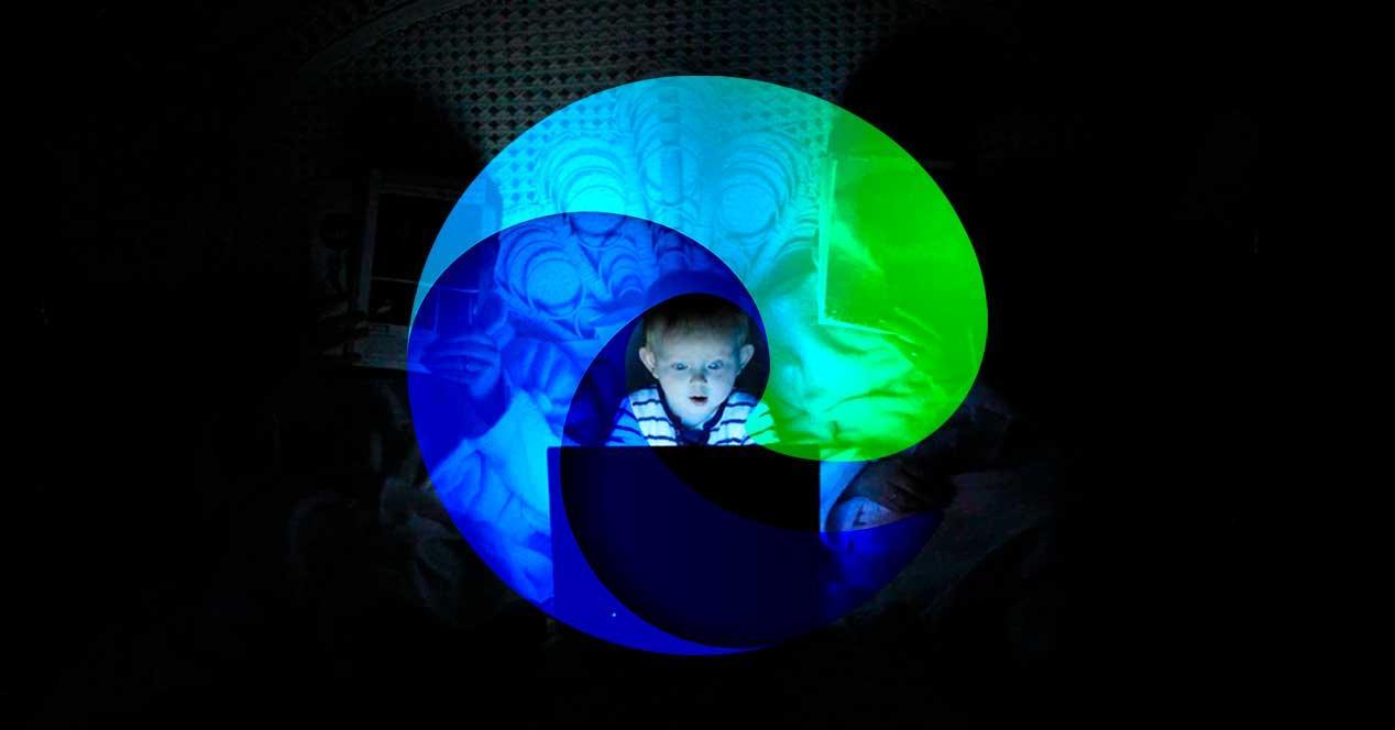 Niño Internet con Edge