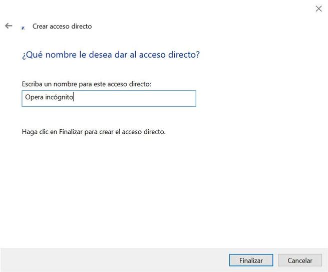 Opera nombre acceso directo
