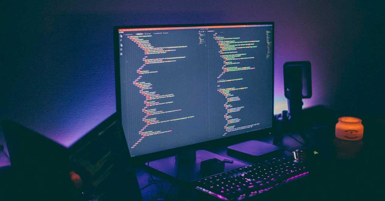 Ordenador usado para programación