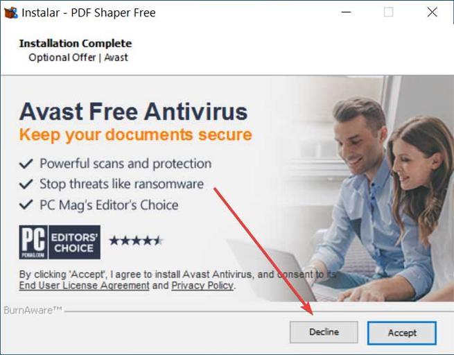 PDF Shaper intenta que instalemos software de terceros