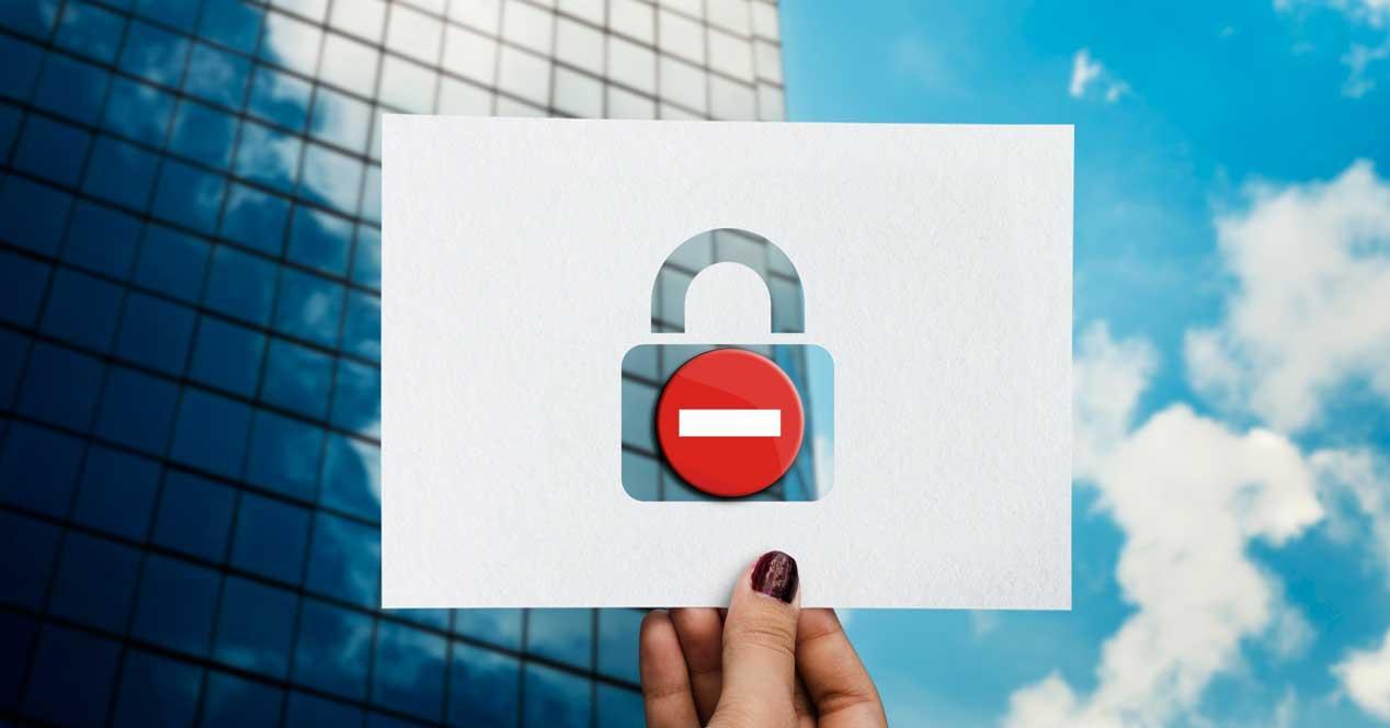 Archivos prohibidos windows