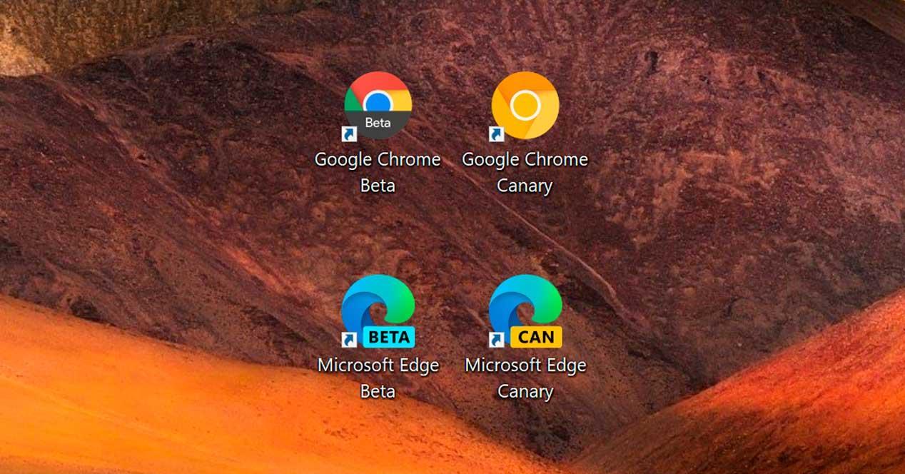 Chrome Edge Beta Canary