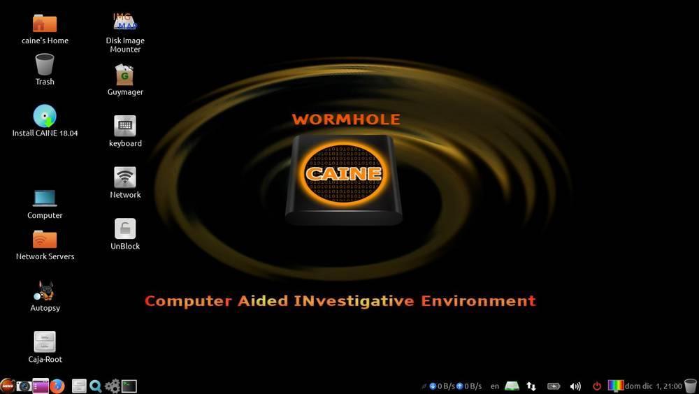 Escritorio CAINE Linux