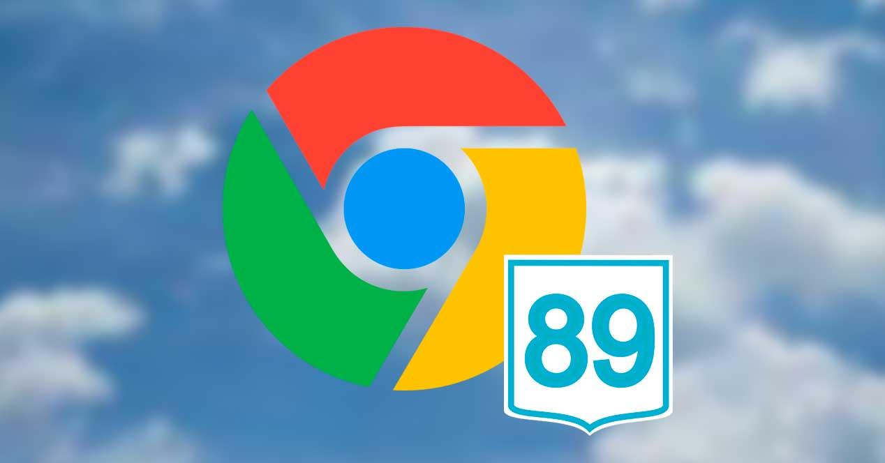 Google Chrome 89 en cielo