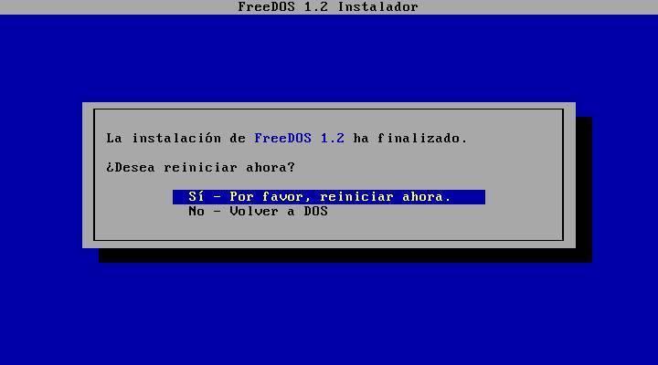 Install FreeDOS - 16