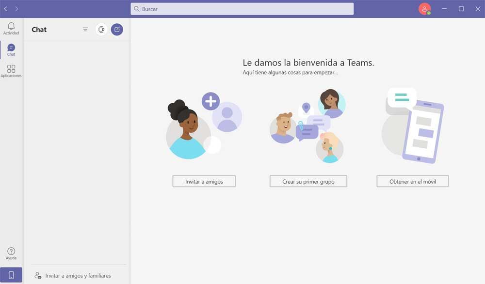 Teams interface