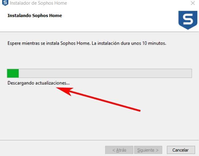 actualizar programa sophos