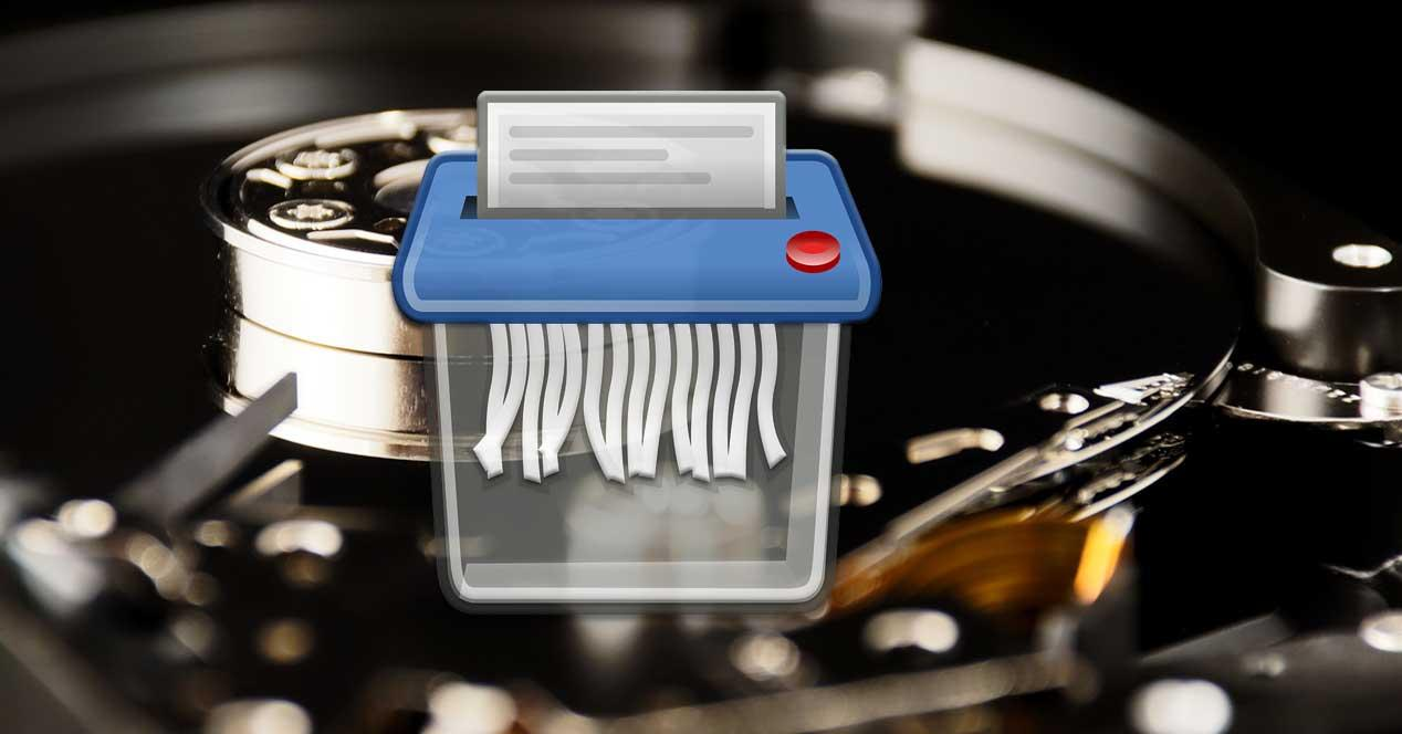 borrar archivos disco