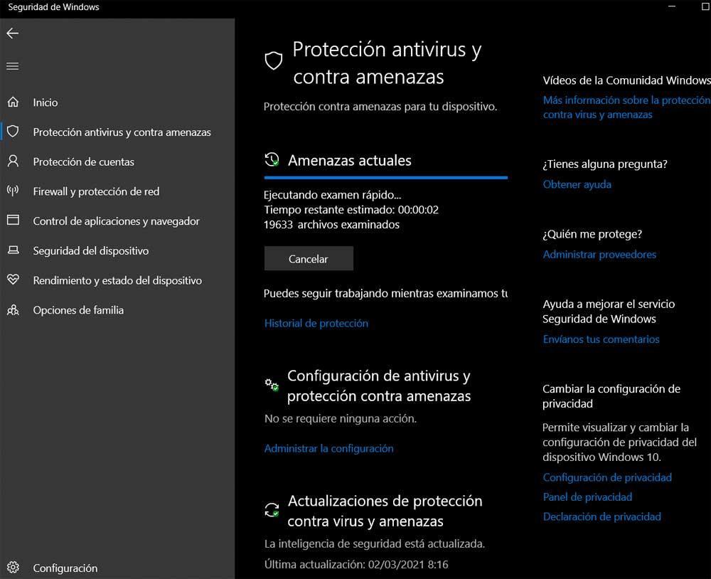 Windows defender examen