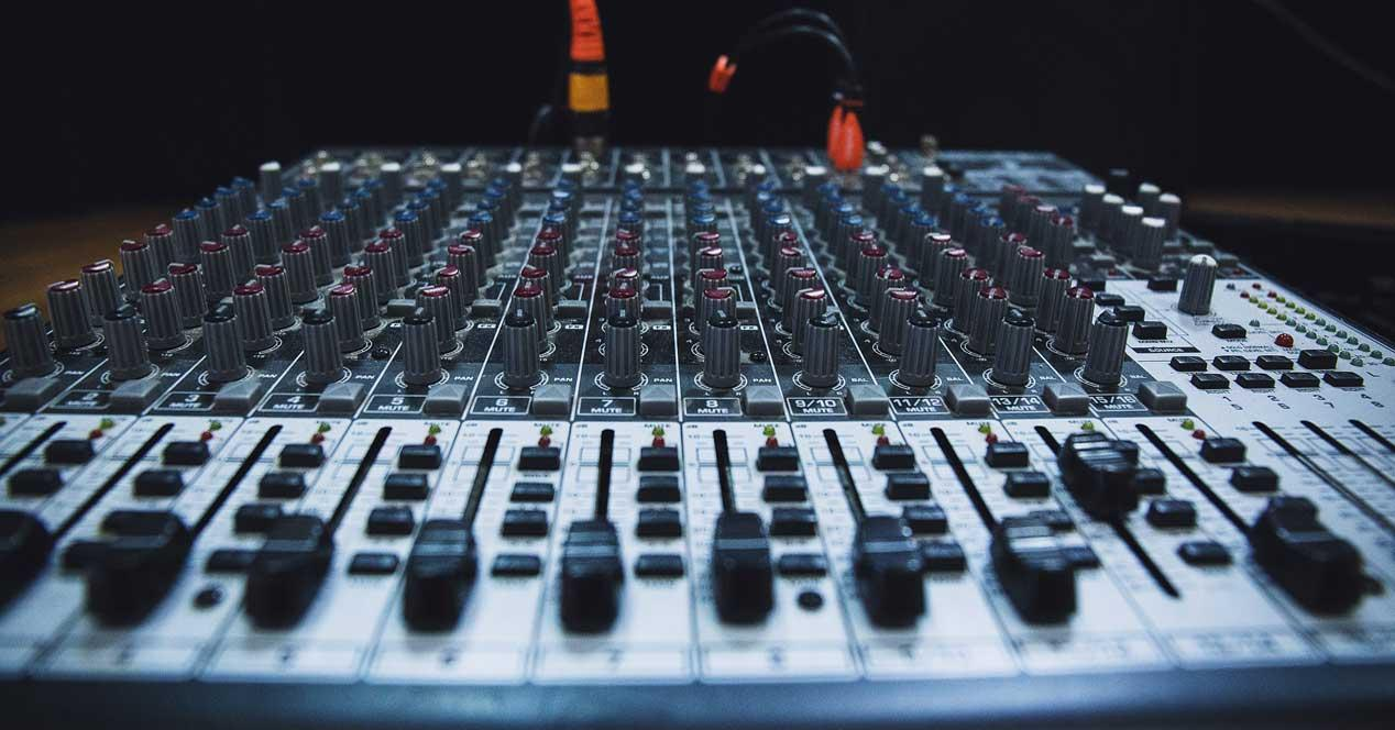 mesa mezclas audio