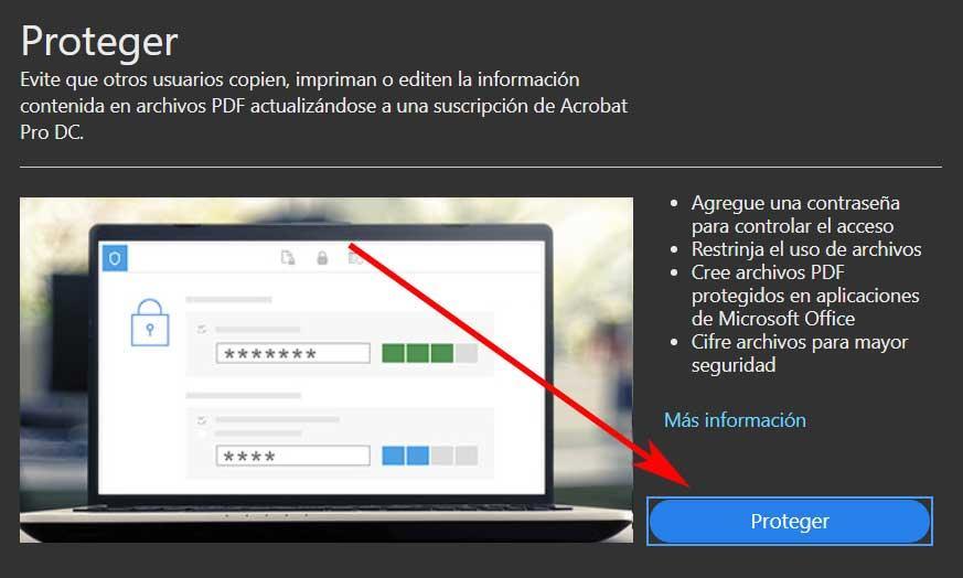 Contraseña protegida PDF avisos
