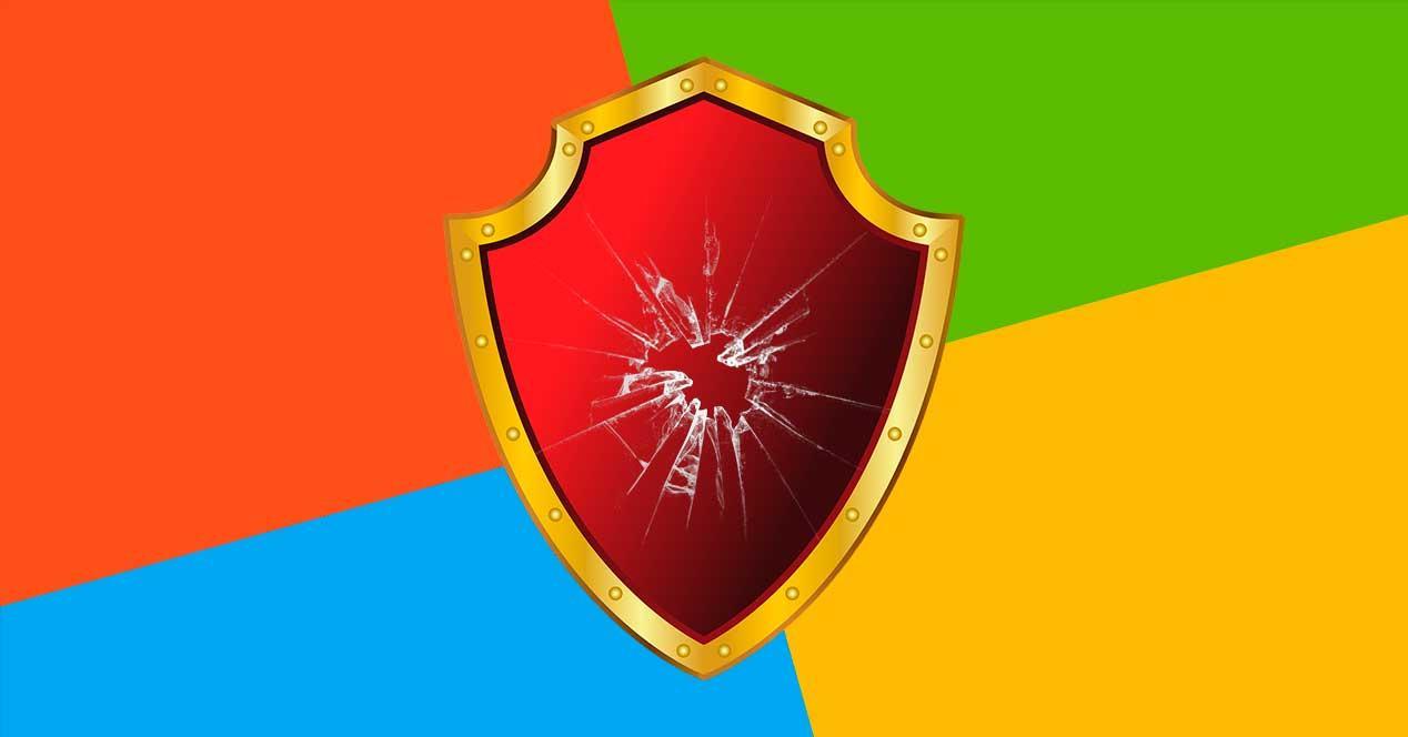 Escudo seguridad Windows Microsoft