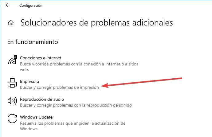 Solucionador problemas impresora
