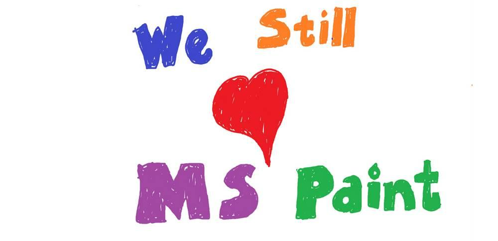We Love MS Paint