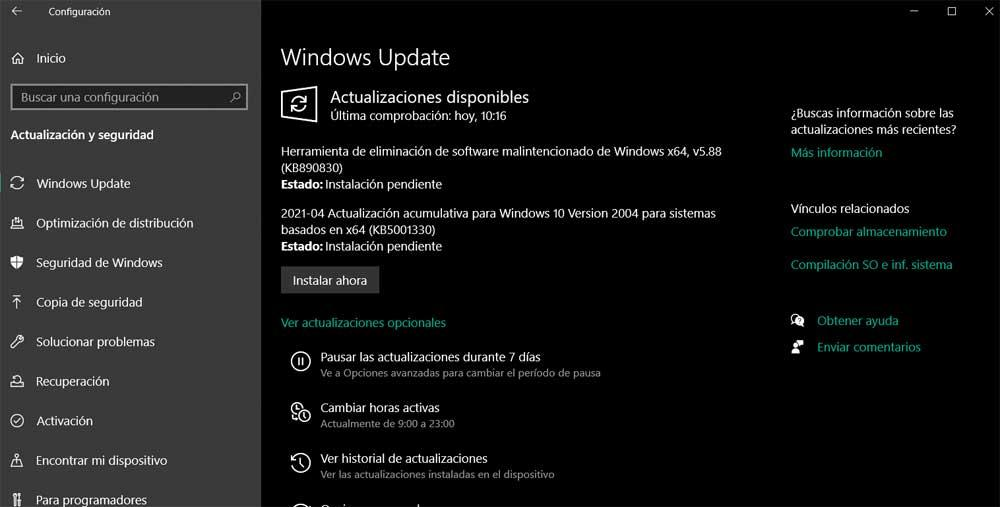 Windows Actualizar