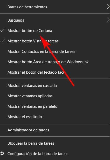 mostrar Cortana