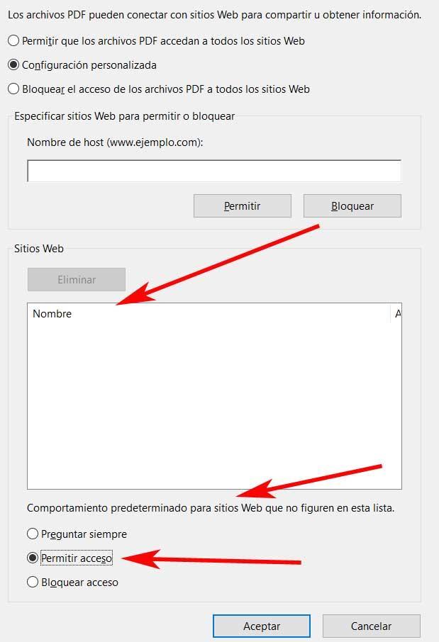 permitir acceso acrobat PDF avisos