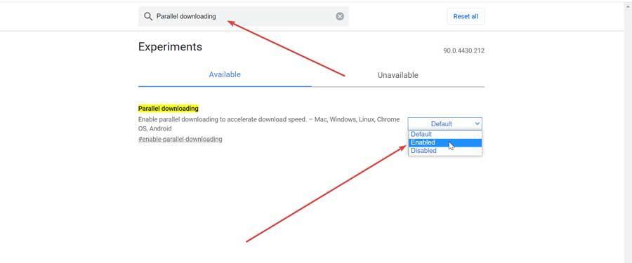 Activar descargas paralelas en Chrome