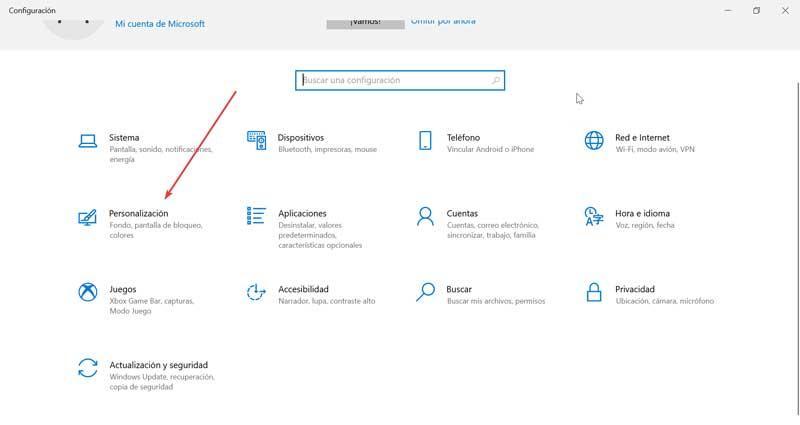 Configuración y Personalización