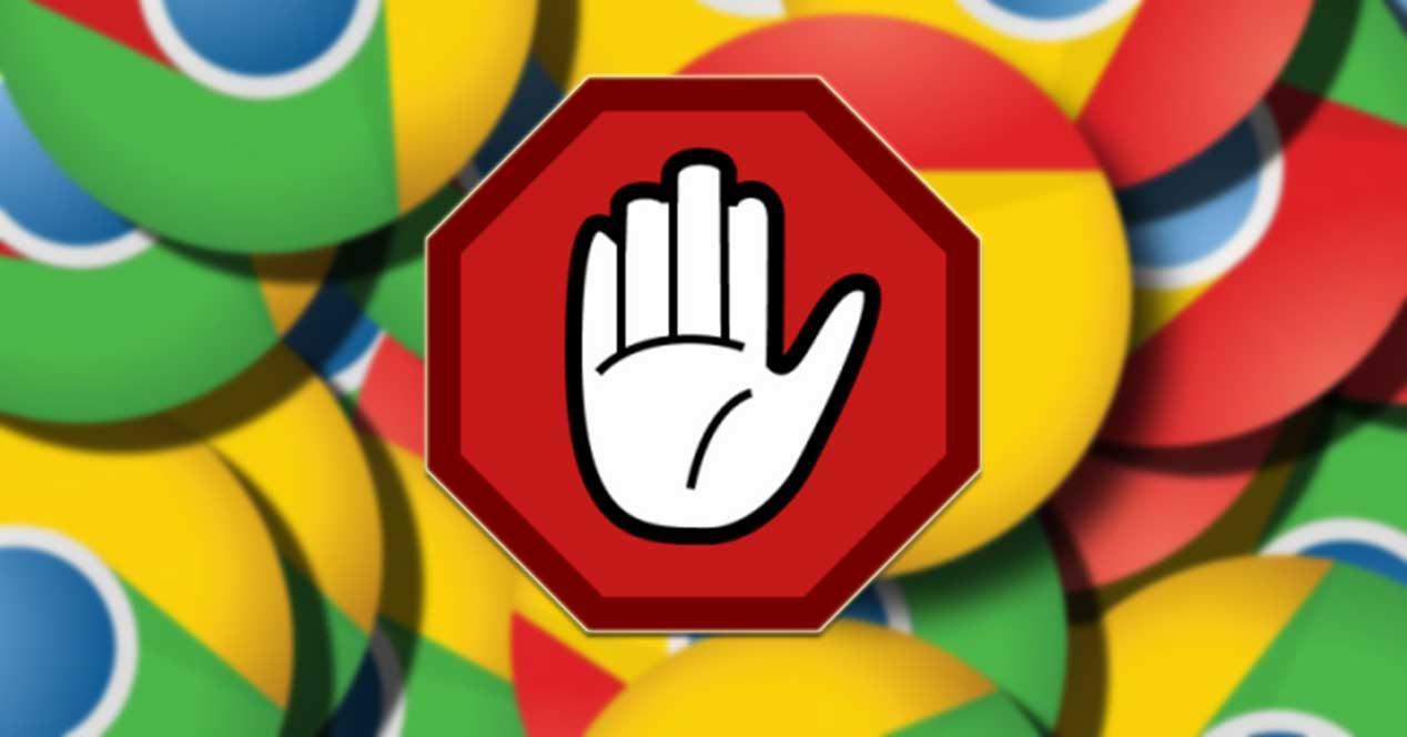 Evitar extensiones en Google Chrome
