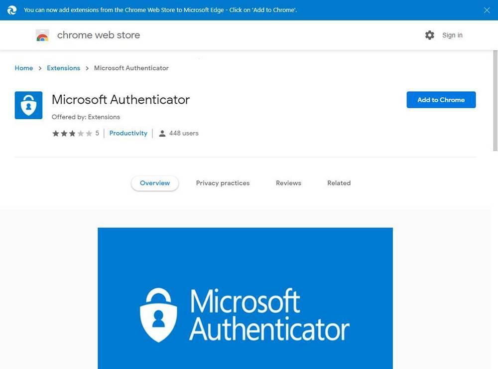 Falsa extensión contraseñas MS Authenticator Chrome
