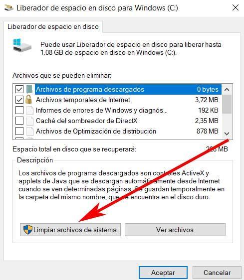 Limpiar archivos del sistema
