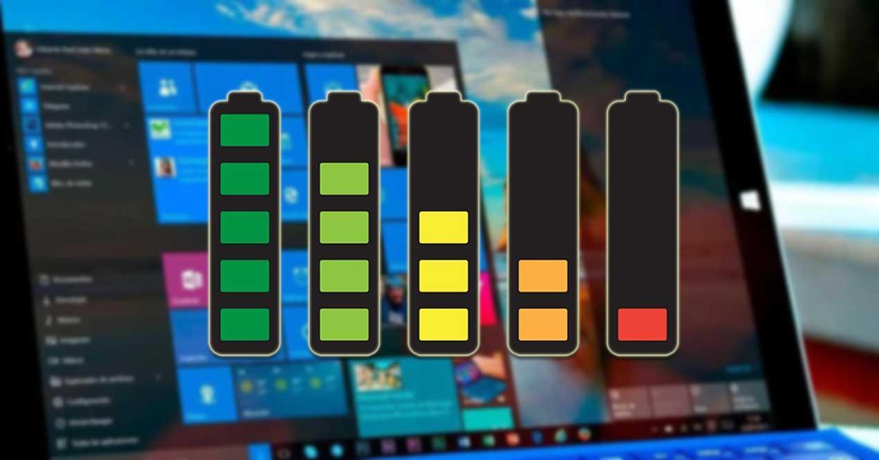 Mostrar tiempo de uso de la batería