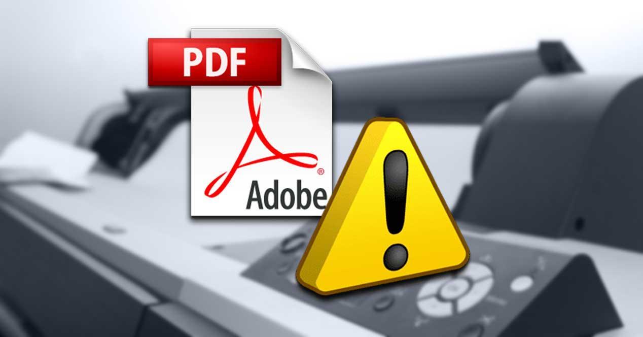 Solucionar error al imprimir PDF con Adobe Reader