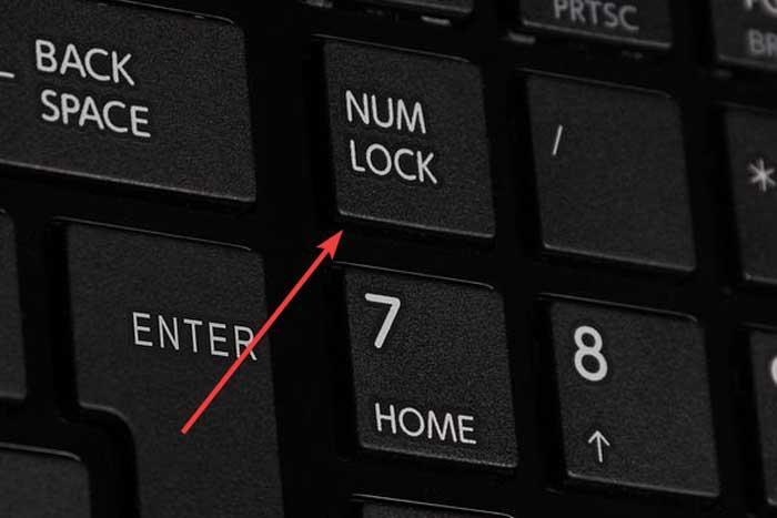 Tecla Num Lock teclado