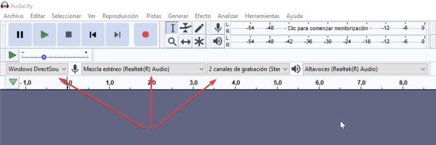 Variables a cambiar antes de grabar