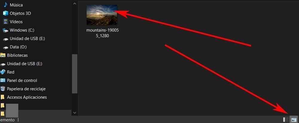 explorer thumbnails