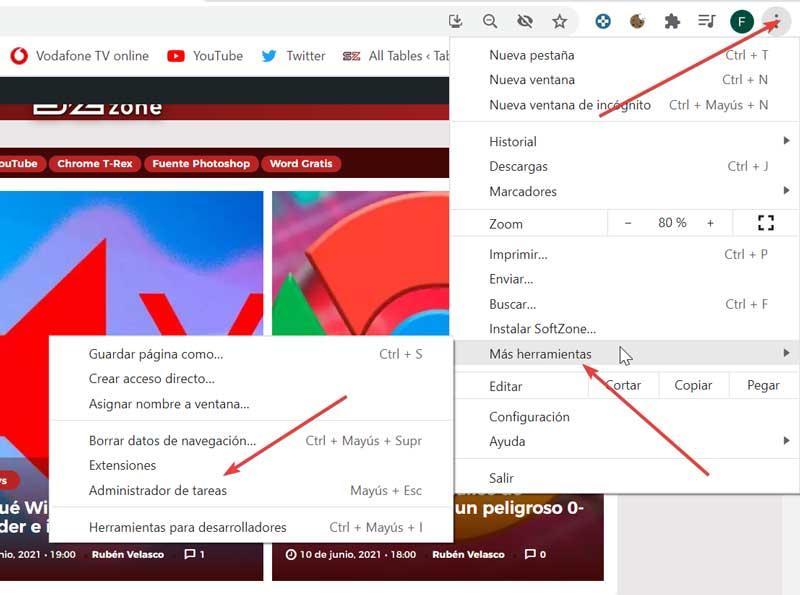 Acceder Administrador de tareas de Chrome