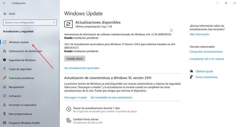 Määritä Windows Update