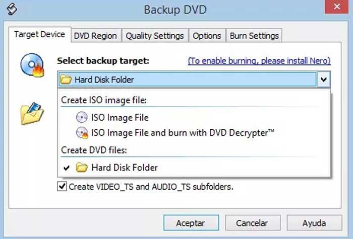 DVDSink kryds DVD