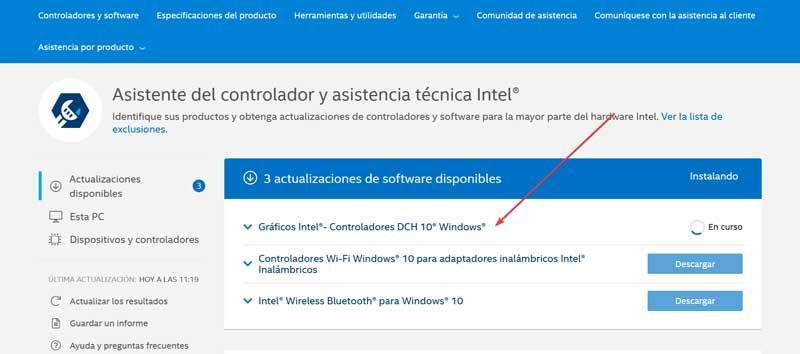 Lataa Intel -ohjaimet