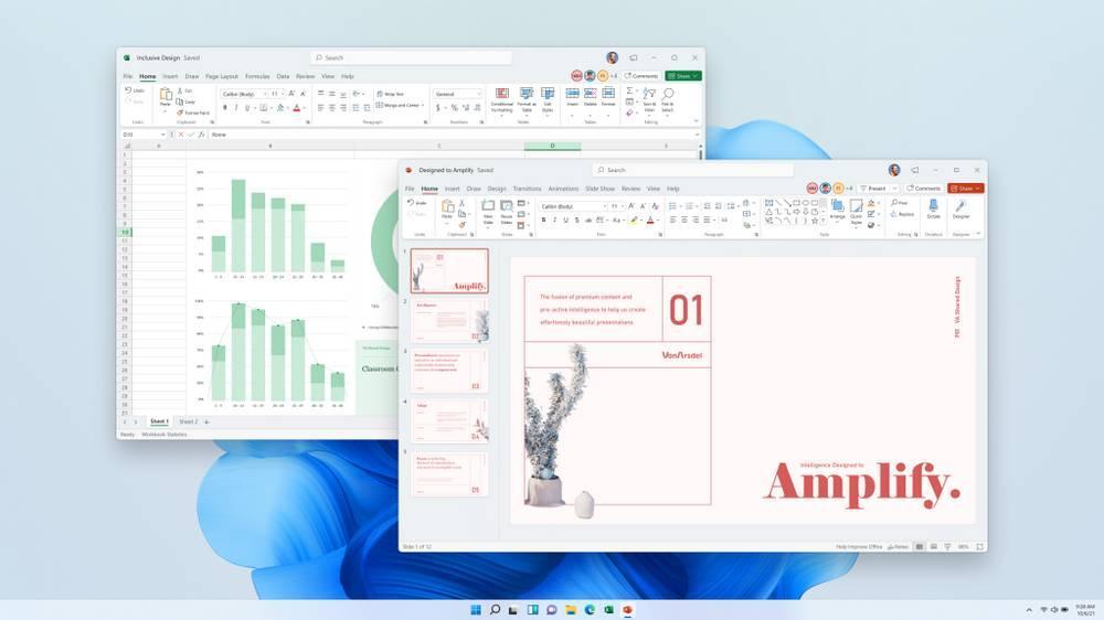 Excel y PowerPoint con nueva apariencia