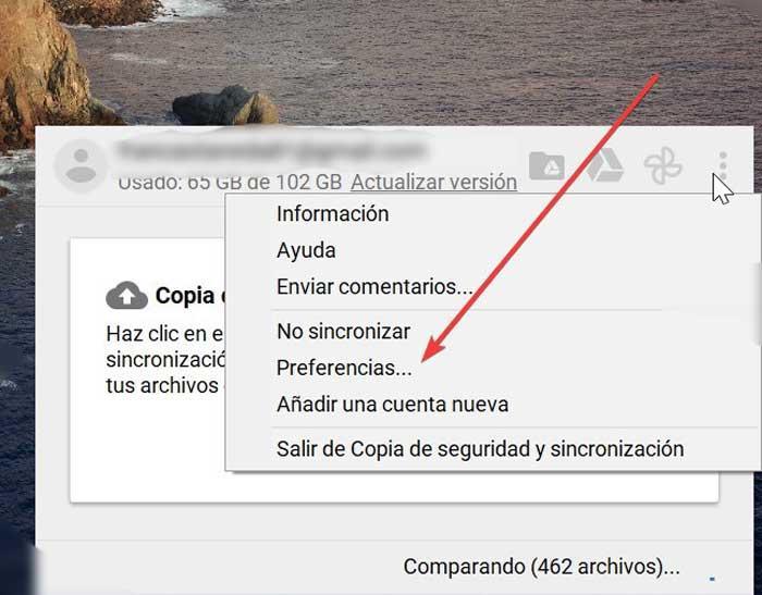 Google Drive Preferencias