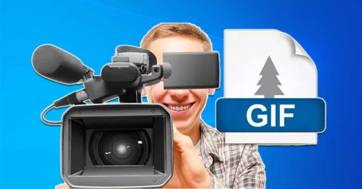 Grabar pantalla crear GIF